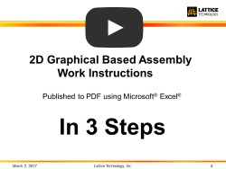2D work instructions with PDF and Microsoft Excel