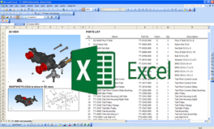 Embed Interactive Models into Excel Spreadsheets and 3D PDFs