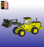 Toy tractor in XVL