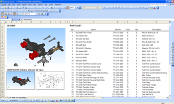 Microsoft Excel Plug-In for 3D Model Viewing