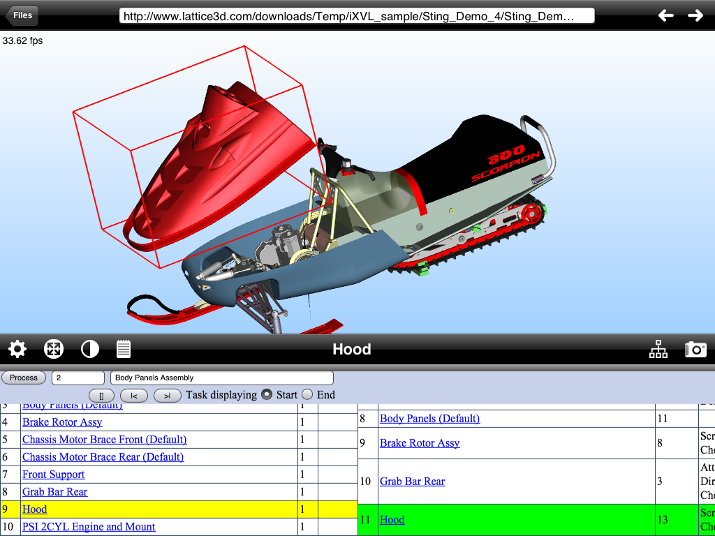 iOS full-functioning 3D viewer including work instructions