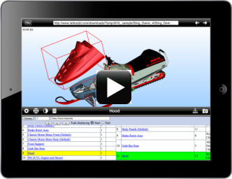 Access interactive 3D on iPad iOS with work instructions #leverage3d